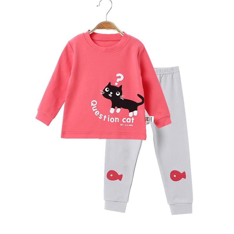 Children Pajamas For kids Girls Pijamas Infantil Cotton Sleepwear Kids Baby Pajamas Set  ...