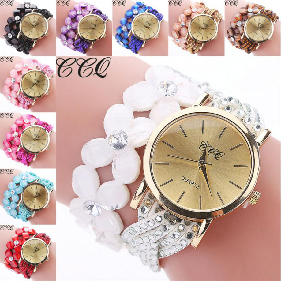 New Ladies Classic Watch Fashion Large Dial Rhinestone Leather Belt Gift Clock Watch Analog Quartz Womens Watch Orologi Donna#w Watches
