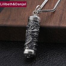 Gawu Box pendentif Dragon en argent Sterling 100% 925, bijoux pour hommes, collier totem ouvert, fabrication de collier, P135