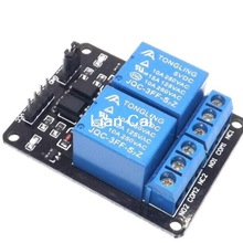 Free Shipping 1PCS 5V 2 Channel Relay Module Shield for Ardu