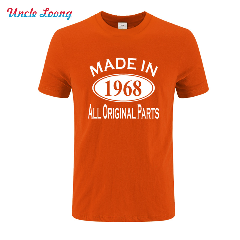 Made In 1968 50 Years of Being Awesome Vintage Print Fashion cotton top tees summer fashion Tee shirt in T Shirts from Men 39 s Clothing