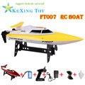 Nueva FT0072.4G el RTF control remoto barco de control remoto barco de regatas/eléctrico de juguete de regalo de los niños del verano (amarillo rojo)