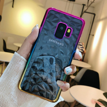 Galaxy S9 Ultra Thin Plating Diamond Design Case Colorful 3D Shining