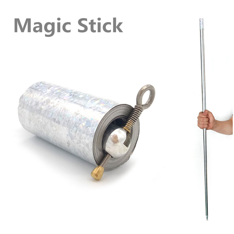 Costumes & Accessories Novelty & Special Use New 1pcs 110cm Magic Stick Appearing Cane Magic Props Tool Silver Cudgel Metal For Professional Magician #1121