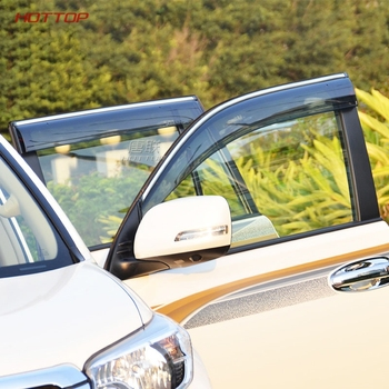 واقي نافذة الباب لسيارة تويوتا برادو 150 لاند كروزر 2015 2016 واقي من الشمس أسود واقي من المطر منحرف نافذة جانبية 2010-2018