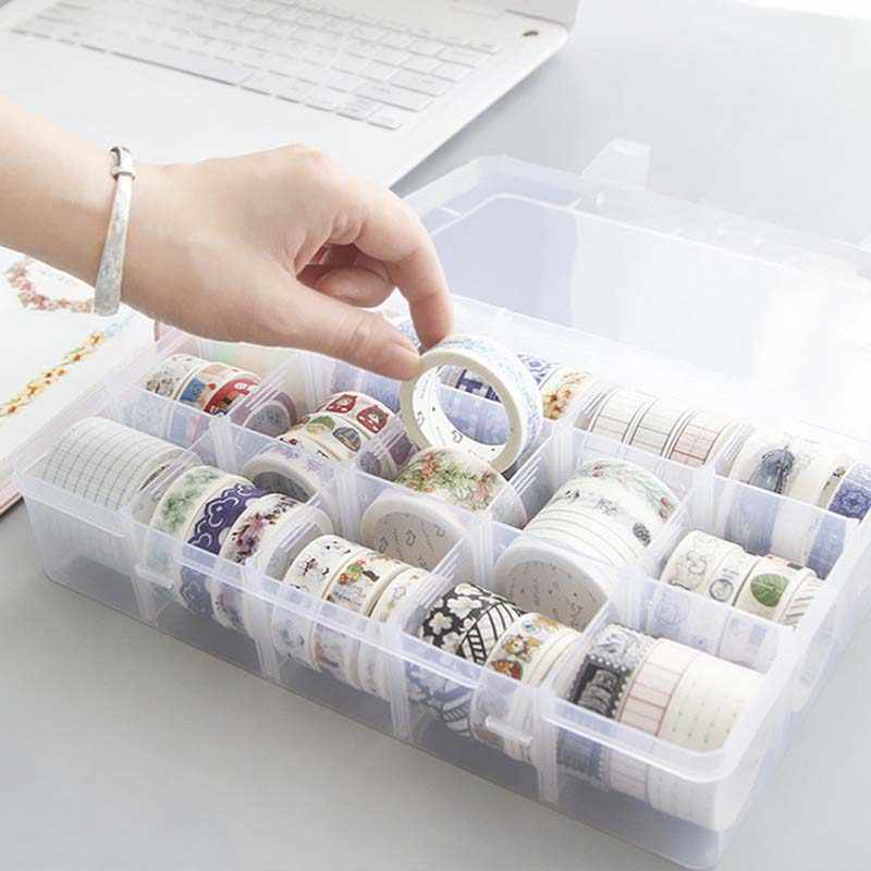 15 Compartment Storage Box Practical Adjustable Plastic Case for Bead Ring Tape Storage Jewelry Display Organizer