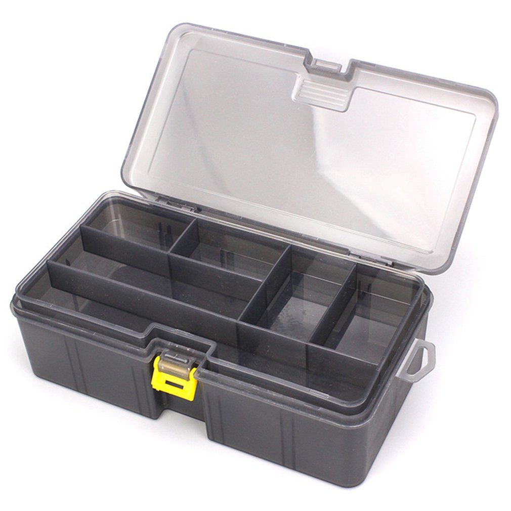 Fishing Lure Box Double Layer Tackle Box Fishing Tackle Container Minnows Bait Box Fishing Accessories