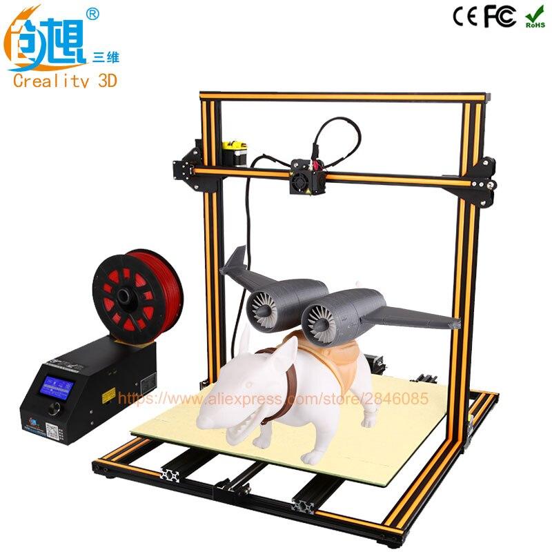 Creality 3D официальный обновления версии cr-10 4S двойной Z стержень + Резюме принт после выключения питания + нити обнаружить/ датчик 3D-принтеры комплект