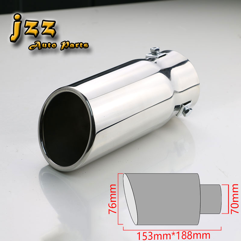 JZZ exhaust mufflers car Car tail pipes silver in 63mm/70mm inlet with high quality stainless steel for golf 6