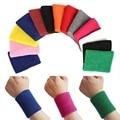 New Cotton Unisex Sport Sweatband Wristband Basketball Wrist Protector Running Badminton Basketball Brace Terry Cloth Sweat Band