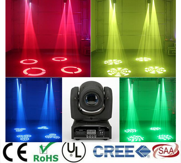 led 4IN1 30W mini led spot moving head light Mini Moving Head Light 30W DMX dj 8 gobos effect stage lights/ktv bar disco 10w disco dj lighting 10w led spot gobo moving head dmx effect stage light holiday lights