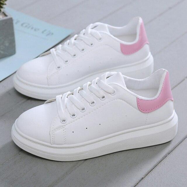 מעצב חדש נעלי אישה טריזי פלטפורמת סניקרס שרוכים לנשימה Tenis Feminino מזדמן שמנמן סניקרס גבירותיי Zapatos Mujer