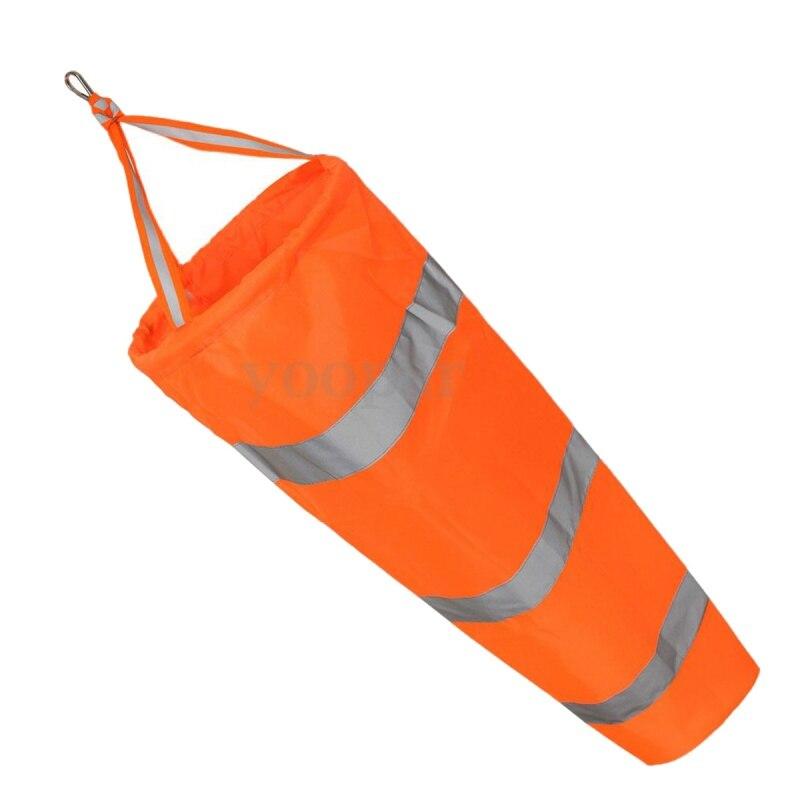 80cm Aviation Windsock Rip-stop Wind Measurement Sock Bag + Reflective Belt