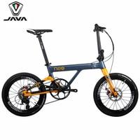JAVA NEO Carbon Adult Folding Bike 20 406 Wheel 11 Speed Disc Brake Foldable Uniex High Quality Urban City Bicycle Mini Velo