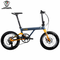 JAVA NEO Carbon Adult Folding Bike 20 406 Wheel 11 Speed Disc Brake Foldable Uniex High Quality Urban City Bicycle Mini Velo