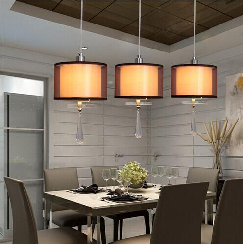 3 heads 220V/110V E14 bula black/coffee color shade Fashion restaurant led pendant lamp|pendant lamp|led pendant lamp|fashion lamp - title=