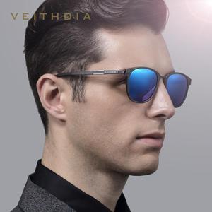 Image 2 - Солнцезащитные очки унисекс VEITHDIA, ретро очки из алюминиево магниевого сплава с поляризационными стеклами, модель 6680, 2019