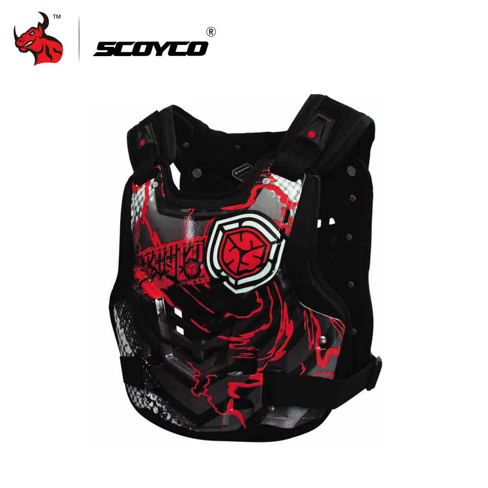 SCOYCO Mens Racing Motorcycle Armor Protector Armor Vest Red And Yellow Body Protector Vest Chest ArmorSCOYCO Mens Racing Motorcycle Armor Protector Armor Vest Red And Yellow Body Protector Vest Chest Armor