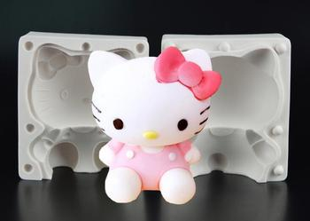 Newest 3D Hello Kitty Shape Fondant Cake Border Decoration Mold DIY Baking Tools For Children's Birthday Party