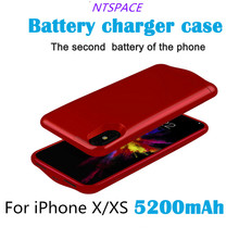 5200mAh External Battery Charger Cases For iPhone X/XS Portable Back Clip Battery Case For iPhone XS/X Power Bank Charger Case цены