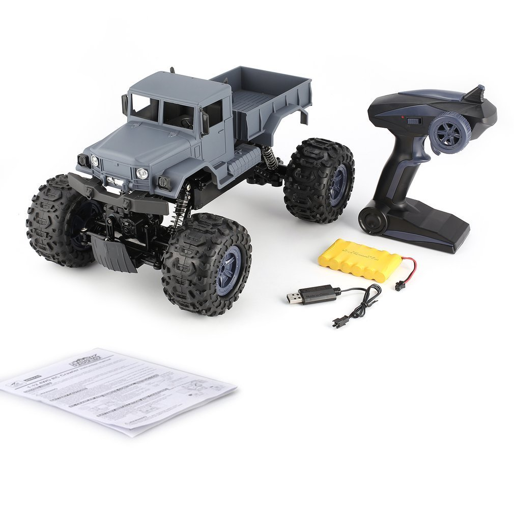 ZEGAN ZG-C1231W 1/12 4WD 2.4G Military Truck Off-Road Climber Crawler RC Car Remote Control Vehicle for Kids Toy Children Gift high quality brave fy 12 2 4g 4wd 1 12 rc car rock climber remote control truck truggy for kids presents gifts