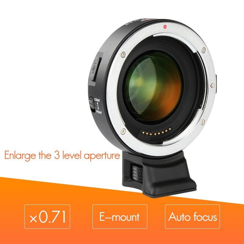 Viltrox EF-E II Lens Mount Adapter AF Mise Au Point Automatique Réducteur Vitesse Booster Adaptateur pour Canon EF Lens pour Sony NEX E A9 A7 A7R A7SII