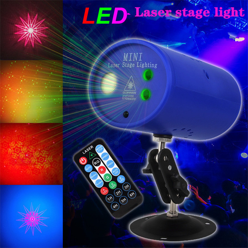 LED Laser Projector Voice Control Music Rhythm Flash Light Stage DJ Disco Light Club Dancing Party Lights Stage Effect Lighting