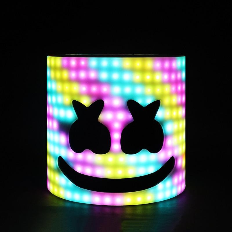 LED Arylic Type 28cm 45 Styles LED DJ Mask Marshmello Helmet Marshmello DJ Mask Face Hat