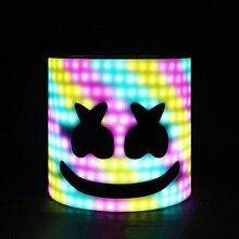Светодиодный Arylic тип! светодио дный 28 см 45 стилей светодио дный LED DJ маска шлем Мarshmello Marshmello маска уход за кожей лица шляпа музыка вентиляторы концерт реквизит руля