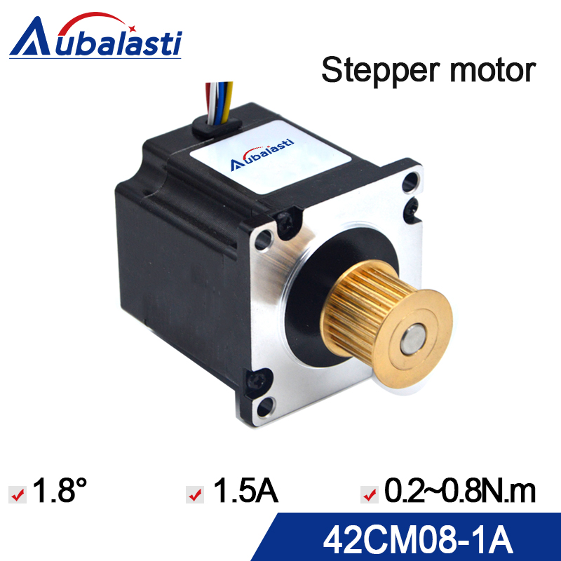 stepper motor leadshine 42 Stepper motor 42CM08-1A nema 17 Step angle 1.8 1.5A 0.8N*M step motor use for cnc engraver & cutting 0 9 step degree nema14 round stepper motor with 8 8n cm 12oz in length 20mm ce cnc step motor