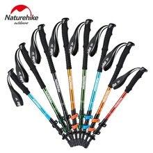 Naturehike 3-алюминиевый профиль сплав Трость альпенштоки складной палка для ходьбы трости с ручкой EVA для кемпинга пеший туризм