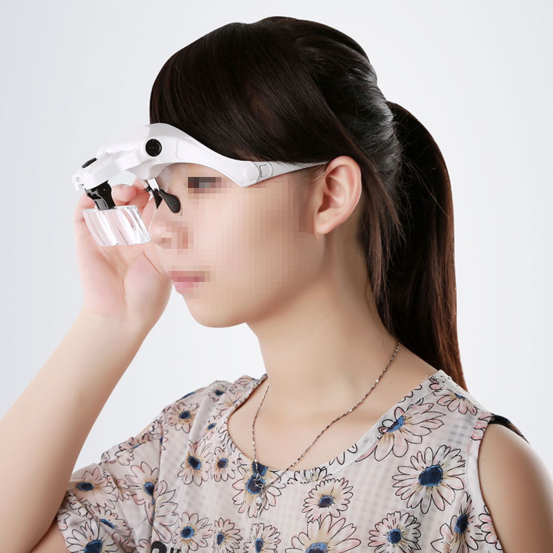 Image 4 - 1X 1.5X 2X 2.5X 3.5X Illuminated Magnifying Glass Magnifier with LED lamp f watch clock repair dental loupes Eyelash Extension-in Magnifiers from Tools on AliExpress