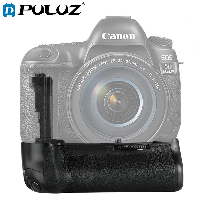PULUZ Battery <font><b>Grip</b></font> For Canon EOS <font><b>5D</b></font> <font><b>Mark</b></font> <font><b>IV</b></font> Vertical Camera Battery <font><b>Grip</b></font> For Canon Digital SLR Camera image