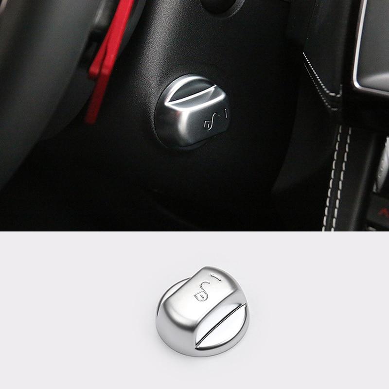 Black titanium Interior Steering wheel cover trim For MG ZS 2017-2018