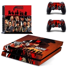 HOMEREALLY Stickers PS4 Skin Game Red Dead Redemption 2 Sticker For Sony Playstation4 Console and Controller Ps4 Accessory