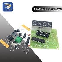 Высококачественные 4-битные электронные часы C51, Набор для изготовления электронных часов, набор для самостоятельной сборки, светодиодный д...