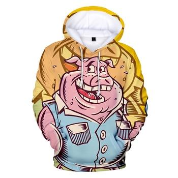 2019 Lucky The birth Year 3D Pig Cute Festive Printed Hoodies Men Women Sweatshirts Couples Hip Hop Cartoon Leisure Streetwear