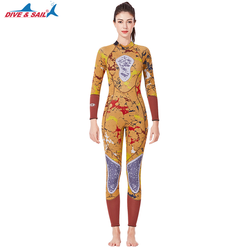 Women One Piece Full Body 3MM Back Zip Scuba Wetsuit Swimming SnorkelingSuit Jumpsuit Men Neoprene Surfing Warm Camo DivingSuitWomen One Piece Full Body 3MM Back Zip Scuba Wetsuit Swimming SnorkelingSuit Jumpsuit Men Neoprene Surfing Warm Camo DivingSuit