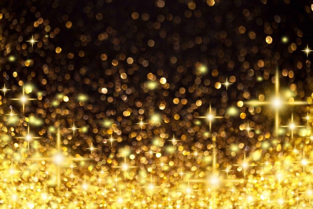 8x8ft Custom Photography Backgrounds Studio Backdrops: 8x8FT Golden Spots Light Glitter Sequins Stars Wedding