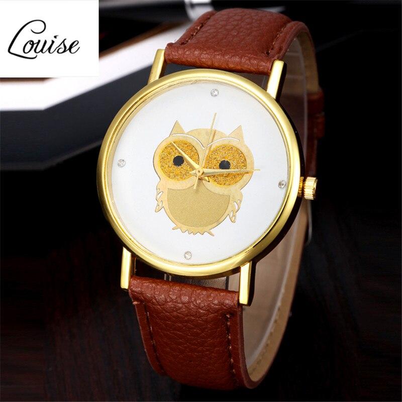 Cheap BIG Discount Relogio Feminino Montre femme Cute Gold Owl Analog Quartz Dial Wrist Ladies font