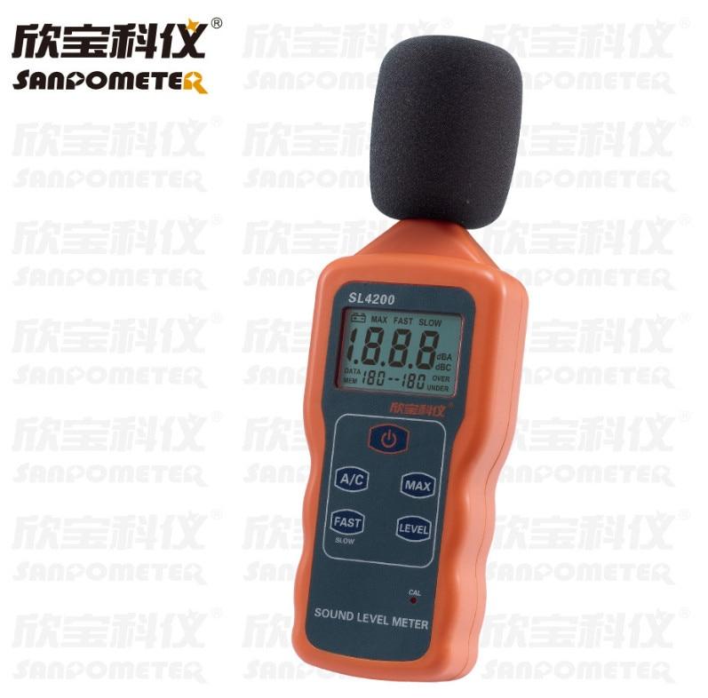 Portable Lcd Digital Sound Level Meter Noise Measuring Instrument Db Decibel Decibelmeter Monitoring Logger Tester SL4200 цены