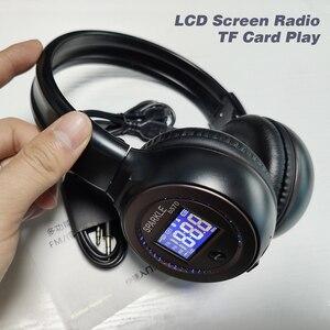 Image 3 - 盲信者 B570 ステレオ Bluetooth ヘッドフォンワイヤレスイヤホン液晶画面 FM ラジオ TF カード MP3 再生とマイク