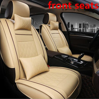 PU Leather Pair Set Car Seat Covers for Front Seat Cover Black Color Fit Most Car, Truck, Suv, or Van