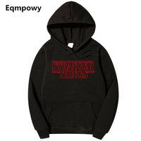 2018 Trendy Faces Stranger Things Hooded Mens Hoodies And Sweatshirts Oversized For Autumn With Hip Hop