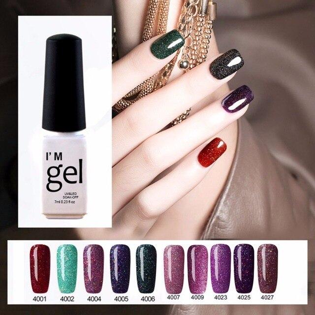 Gel nail polish GLITTER Nail Art decorations Stamping polish BLING Gel  varnish Nails tools 2018 Summer BEAUTY Lacquer Safety 82bb98c9be9c