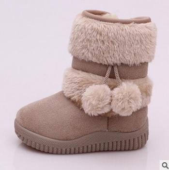 Girls Snow Boots New Fashion Comfortable Thick Warm Kids Boots Lobbing Ball Thick Children Winter Cute Boys Boots Princess Shoes