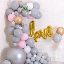 ABDO 10Pcs Latex Balloons 10Inch 12Inch Gray Balloon wedding Party  Birthday Celebration Decoration Chain Arched Door