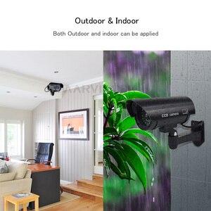 Image 5 - 가짜 더미 카메라 야외 방수 홈 보안 비디오 감시 총알 카메라 실내 야간 투시경 Ipcam LED 라이트