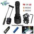1 режим 5 led L2 Тактический фонарь cree XML T6 XM-L2 факел led Водонепроницаемый вспышка света mode18650 Аккумуляторная батарея