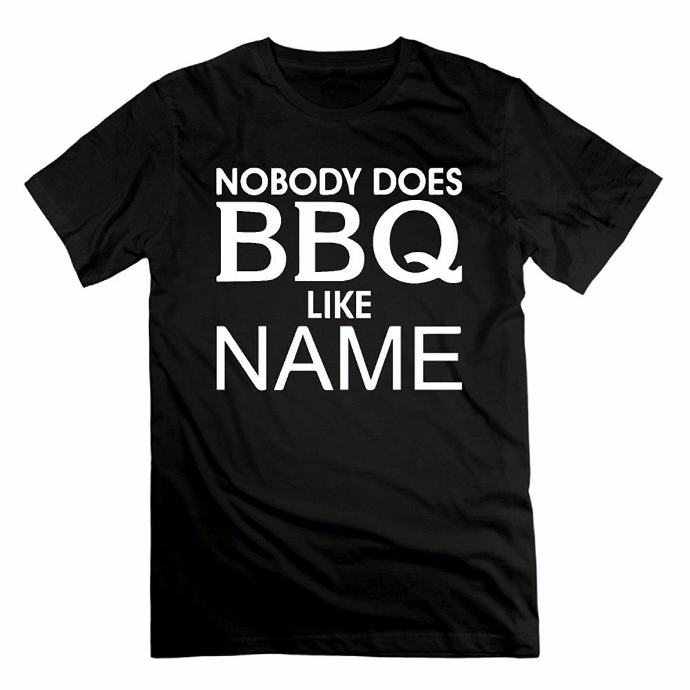 Plus Size 2017 New Men T-Shirts Homme Summer Short Sleeve T Shirts Personalized Nobody Does BBQ Like Your Name